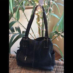 🔑 Fossil black leather bag 🔑